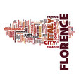 florence italy text background word cloud concept vector image vector image