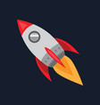 flying rocket spaceship icon space travel flat vector image vector image
