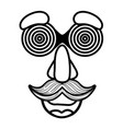 fools day custome face accessories vector image