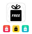 Free gift icon vector image vector image