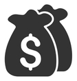Funds Flat Icon vector image vector image