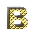 golden cutted figure b Paste to any background vector image vector image