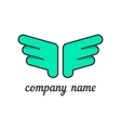 Green wings like company branding vector image