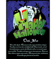Halloween Poster with the text Happy Halloween vector image vector image