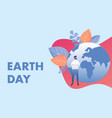 happy earth day planet care vector image