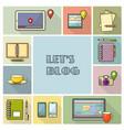 lets blog card for socia vector image