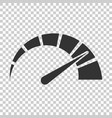 meter dashboard icon in flat style credit score vector image vector image