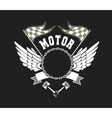 Motorcycle Badge vector image vector image