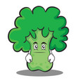 neutral face broccoli chracter cartoon style vector image vector image