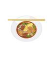 noodle soup2 vector image vector image