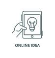 online idea line icon linear concept vector image vector image