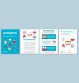 orthodontics brochure template layout vector image vector image