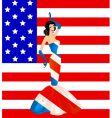 patriotic woman vector image vector image