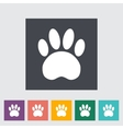 Paw flat icon vector image vector image