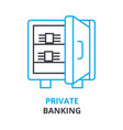private banking concept outline icon linea vector image