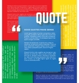 Rectangle Motivation Quote Template vector image