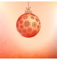 Red card with christmas balls EPS8 vector image vector image