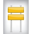 road double sign vector image vector image