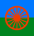 roma people flag vector image vector image