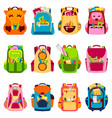school kids school backpack back to school vector image vector image