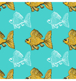 seamless background with goldfish vector image vector image
