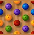 seamless bowling pattern bowling track ball vector image vector image