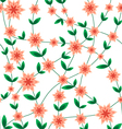 Seamless pattern flower peach vector image vector image
