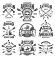 set american indian emblems vector image