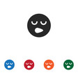 sleepy smile icon vector image