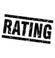 square grunge black rating stamp vector image vector image