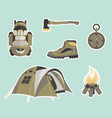 survival gear vector image vector image