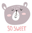 sweet bear vector image