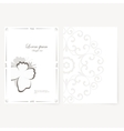 template for folder business card and invitation vector image vector image