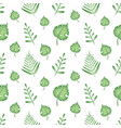 tropical green leaves seamless pattern vector image