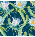 Tropical seamless pattern Exotic leaves and vector image vector image