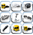 truck spares icons set vector image