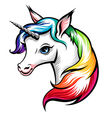 unicorn color vector image