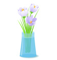 vector illustration flowers in vase vector image