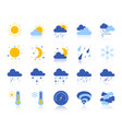 weather simple flat color icons set vector image vector image