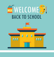 welcome back to school background design template vector image