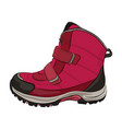 winter pink shoes vector image vector image
