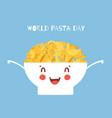 world pasta day cartoon vector image