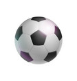 classic soccer ball realistic isolated vector image