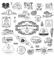 Nautical Sea Calligraphic Elements vector image