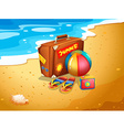 A summer escapade at the beach vector image vector image