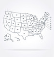 accurate correct usa map with states labeled vector image