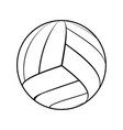 ball for volleyball vector image vector image