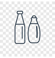 bartender concept linear icon isolated on vector image