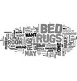 bed rugs and beyond text word cloud concept vector image vector image