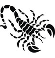 black scorpion tattoo vector image vector image